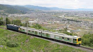 2021.5 篠ノ井線9442M E493系東オク01編成+EF64 37連結走行試運転