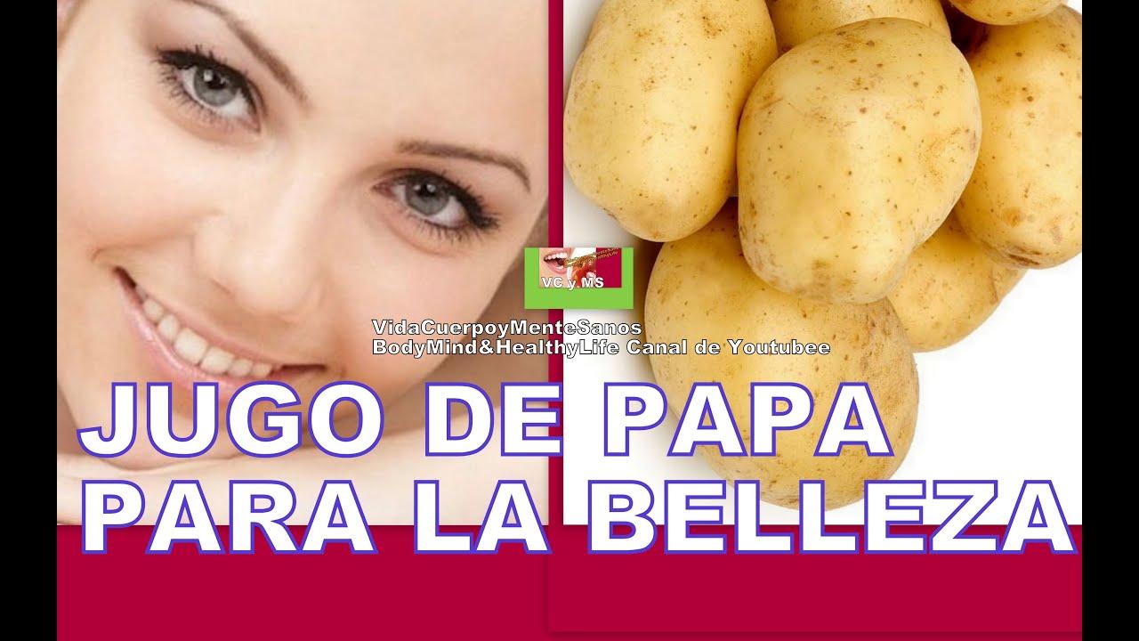Beneficios del jugo de papa o patata cruda para la piel y