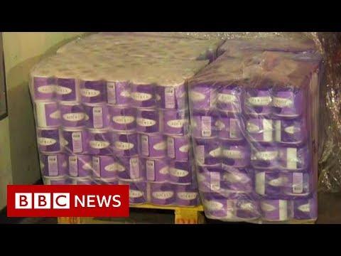 Coronavirus: Hong Kong gang steals hundreds of toilet rolls - BBC News