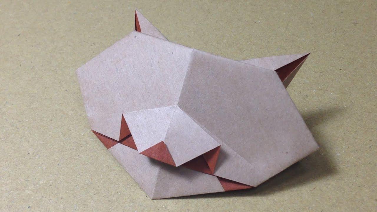 すべての折り紙 折り紙パンダ顔折り方 : ... の折り方 作り方 - YouTube