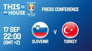 Slovenia v Turkey - Press Conference - FIBA Basketball World Cup 2019 European Qualifiers