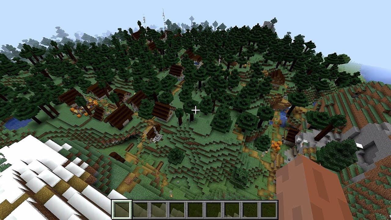 Minecraft 1 14 Seed 143: Huge taiga village near spawn
