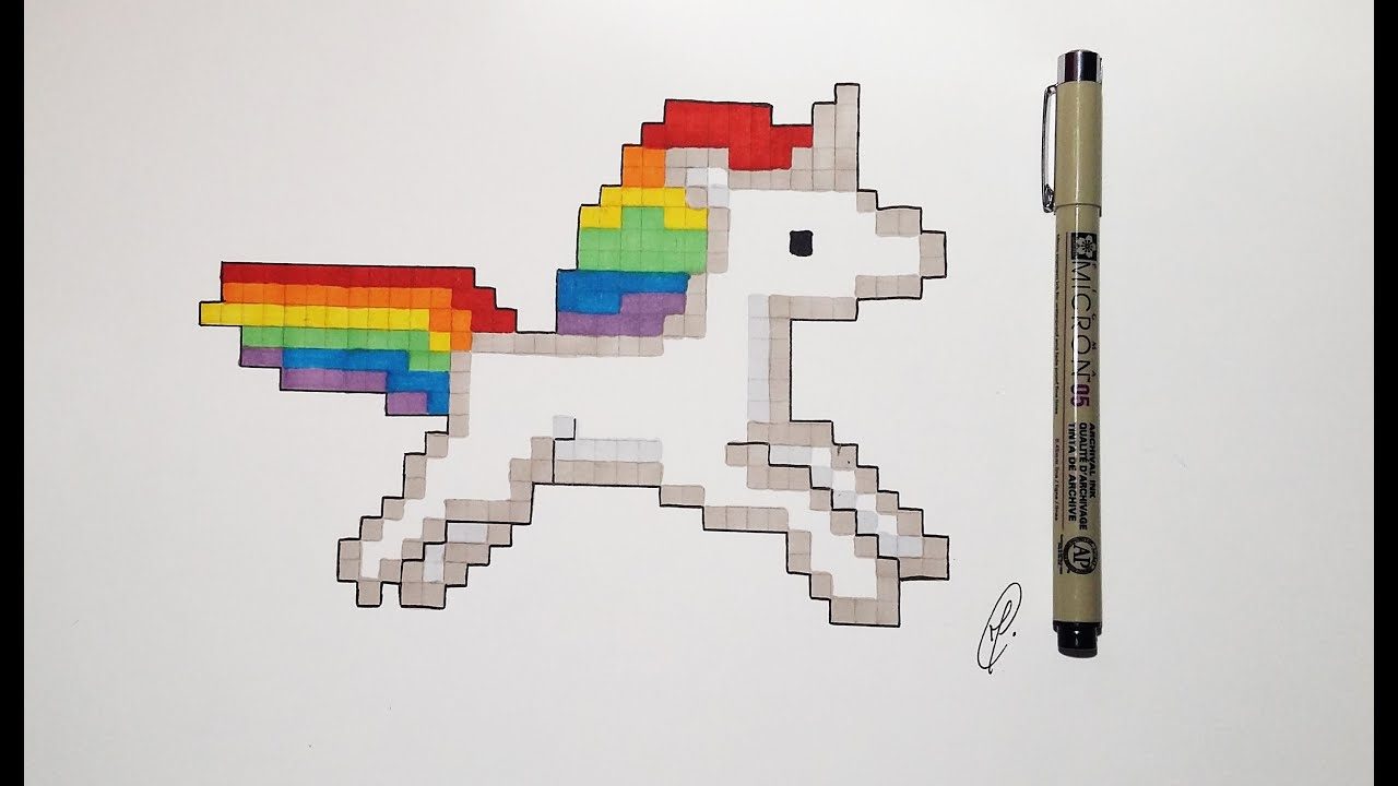Pixel Art How To Draw Unicorn Very Easy