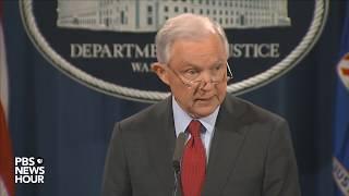 WATCH  AG Sessions discusses violent crime