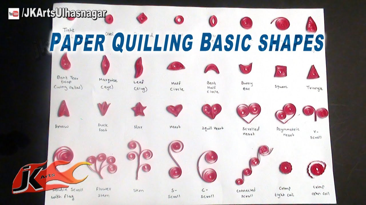 DIY Paper Quilling Basic Shapes | Quilling Tutorial for Beginners ... for How To Make Quilling Shapes  34eri