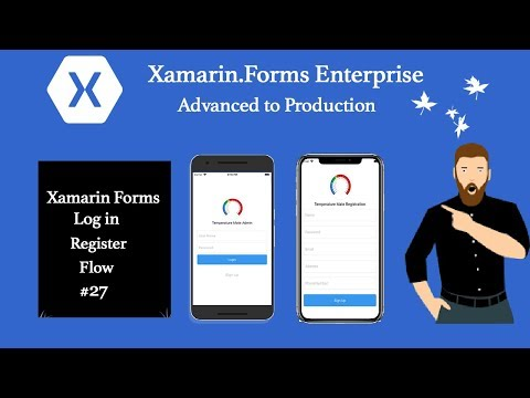 Login Register Full Flow Xamarin Forms Tutorial 27 [Part1]