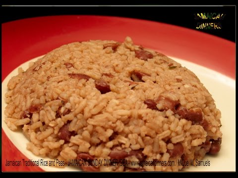 RICE AND PEAS Jamaican Authentic Sunday Dinner Accompaniment