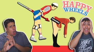 We Did Not Plan This In HAPPY WHEELS!!