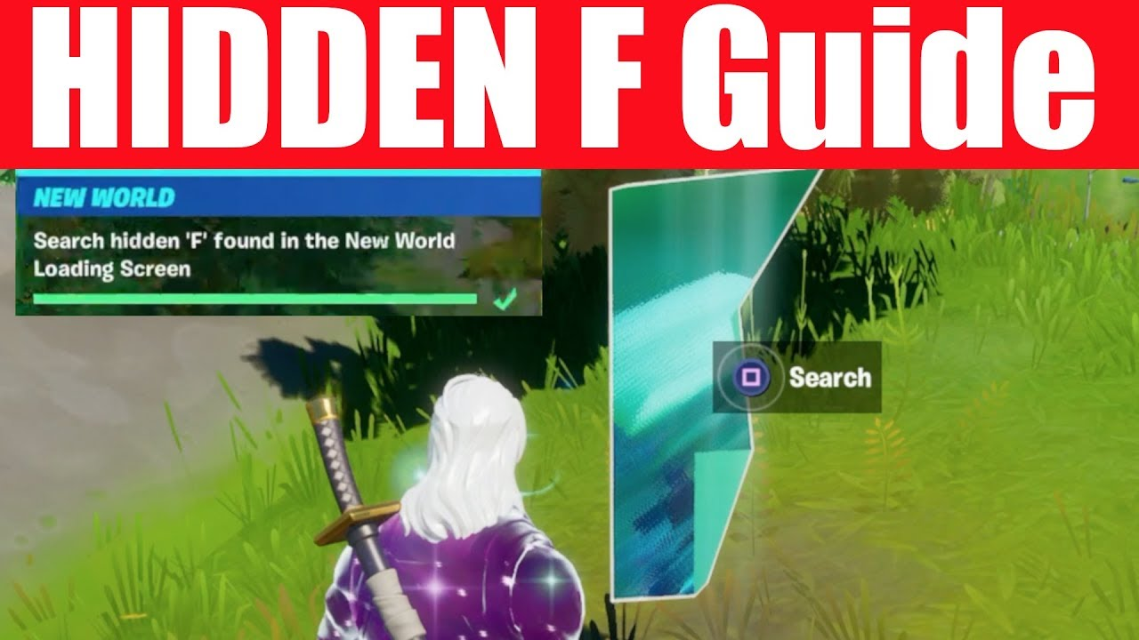 Search Hidden F Found In The New World Loading Screen Location Fortnite Chapter 2 Season 1