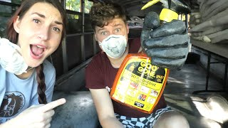 Bus Conversion: The Build ep. 6 - Adventures & Floor Prep - Ft. Our New Love, Goo Gone