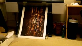 Epson 7890 canvas print cut and review