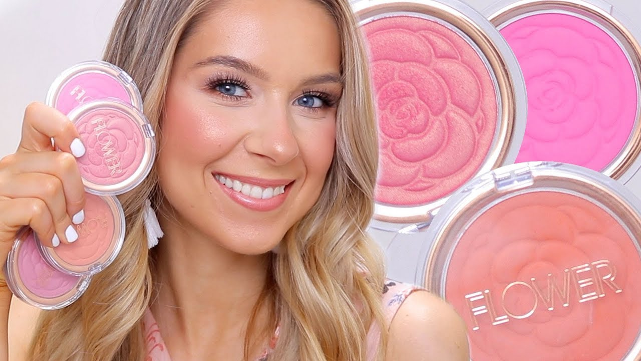 Flower beauty blushes 4 colors swatches review youtube flower beauty blushes 4 colors swatches review izmirmasajfo