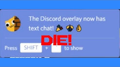 How to DISABLE Discord Overlay+Text Overlay.