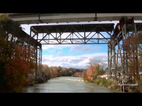 Burgoyne Bridge Demolition, view of section over Twelve Mile Creek