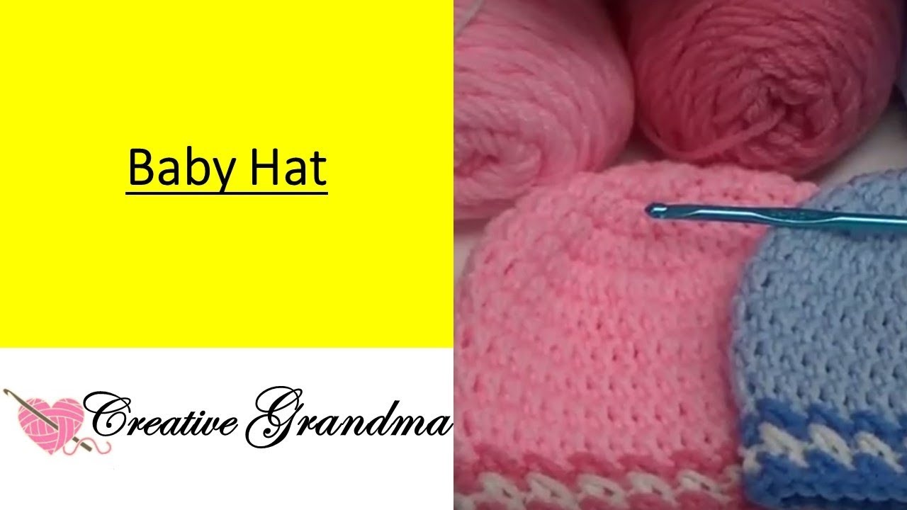 Adorable Crocheted Baby Hat Free Pattern