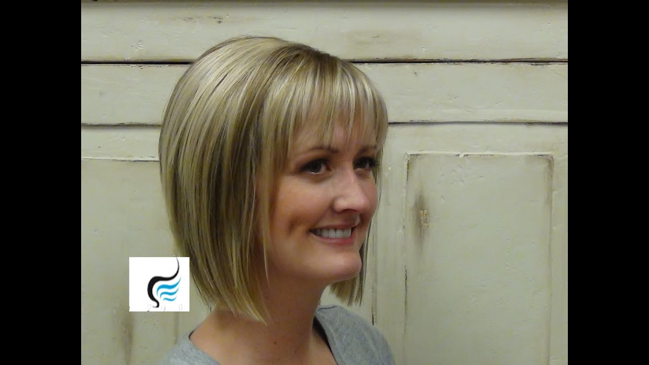 Simple A Line Cut Hairstyles Youtube