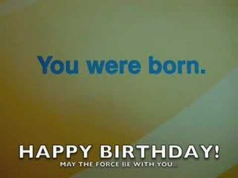 Star Wars Birthday Greeting Free ~ Star wars : birthday card youtube