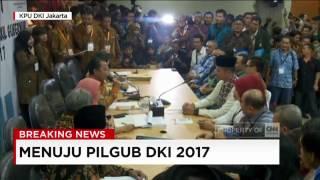 agus yudhoyono sylviana resmi mendaftar sebagai cagub cawagub ke kpud dki