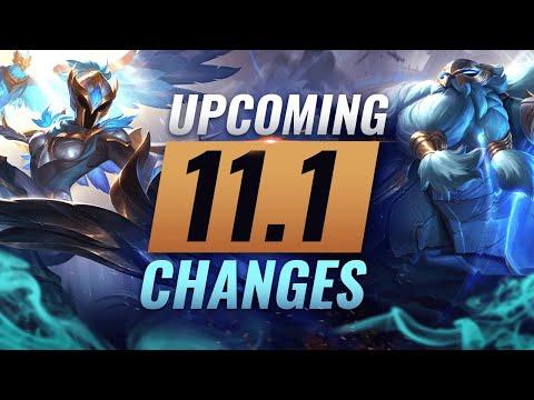 MASSIVE CHANGES: New Buffs U0026 NERFS Coming In Patch 11.1 - League Of Legends Season 11
