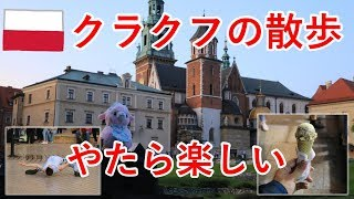 東欧旅8日目の3 夕方~夜のクラクフ散歩で、ヴァヴェル城とか広場とか【無職旅】