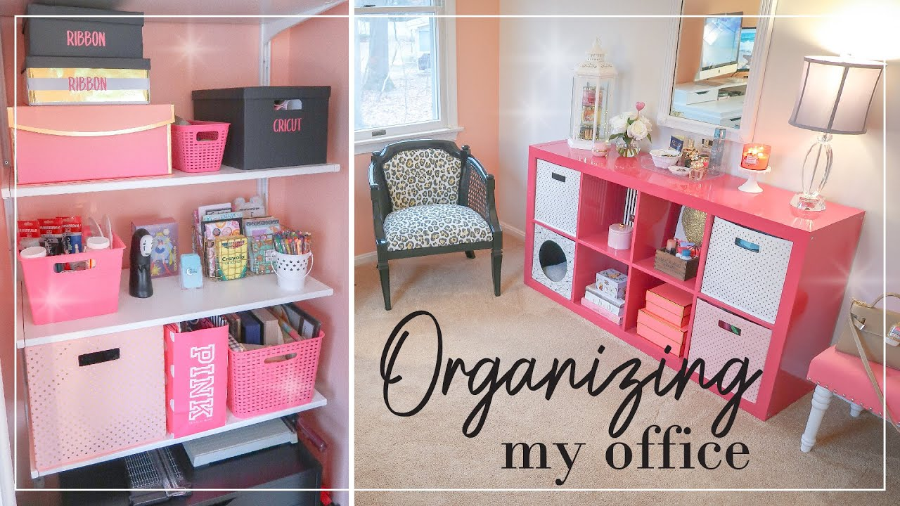 Home Office Craft Room Organization Office Clean With Me Declutter Organizing My Craft Room Youtube