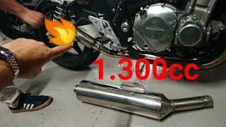TUBO ESCAPE LIBRE MOTO HONDA CB 1300!!  BRUTAL!!