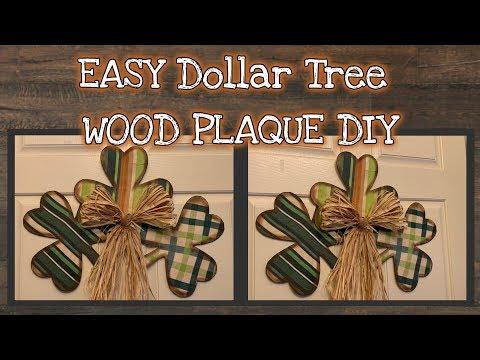 EASY Dollar Tree WOOD SHAMROCK DIY | QUICK And EASY DIY