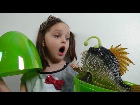 "Thumbnail: Giant Surprise Egg Attack Annabelle vs Angler Fish ""Toy Freaks Hidden Easter Eggs"""