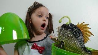 Giant Surprise Egg Attack Annabelle vs Angler Fish