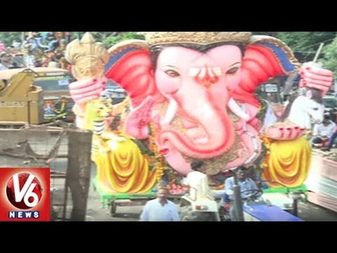 Ganesh Nimajjanam Procession Continuous At Tank Bund | Hyderabad | V6 News