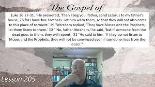 Luke 16:27-31 Lesson 205 October 15