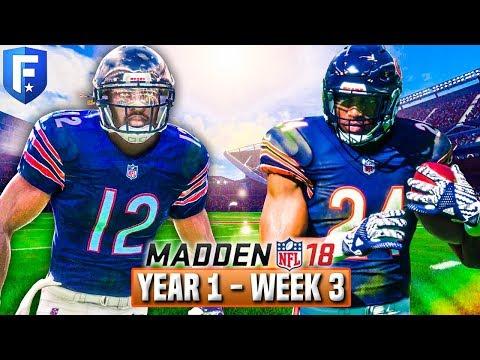 Madden 18 Bears Franchise Year 1 - Week 3 vs Steelers   Ep.4