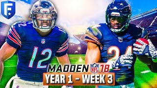Madden 18 Bears Franchise Year 1 - Week 3 vs Steelers | Ep.4
