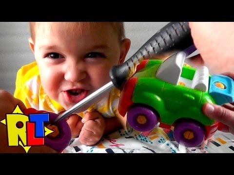 ✨ РАЗБЕРИ ЕЕ.- Детский конструктор Build And Play -  машинки для малышей