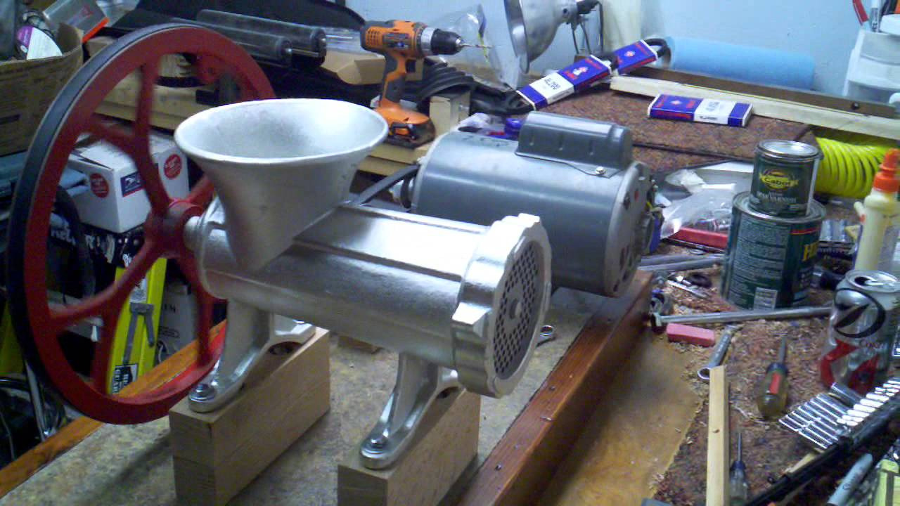 Motorized Meat Grinder More Power Youtube