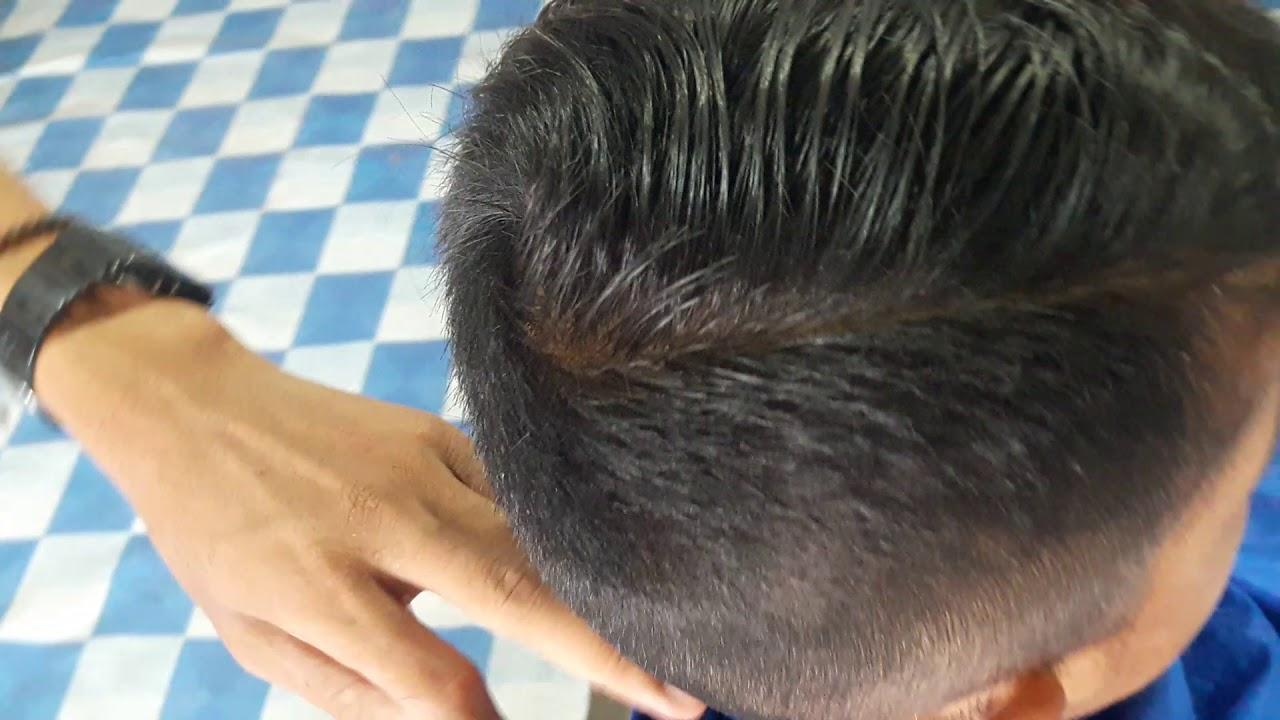 Gaya rambut masa kini,elegan dan rapi,garis tepi rambut ...