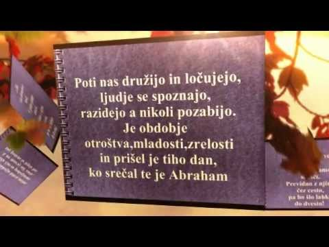 50 rođendan abraham Verzi za Abrahama   YouTube 50 rođendan abraham