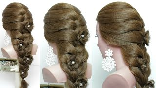 Cute hairstyle for long hair tutorial