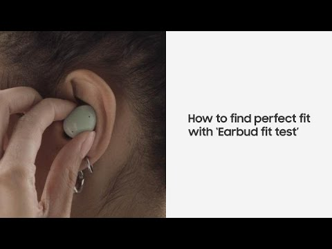 Galaxy Buds2: How to find the perfect fit with the Earbud fit test | Samsung