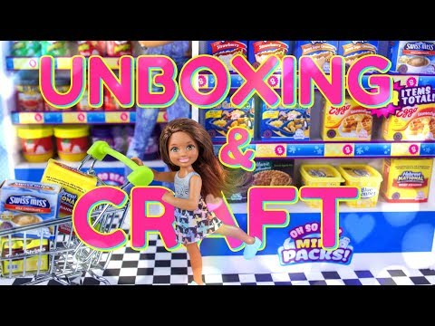 Unbox Daily: ALL NEW Shopkins Oh So Real Mini Packs PLUS DIY Grocery Store Shelves