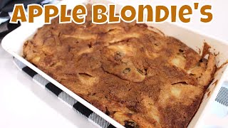 Holiday Apple Blondie's With Linda's Pantry