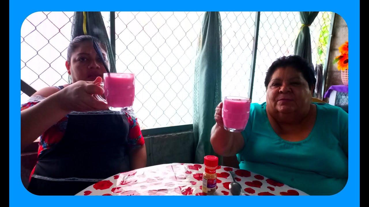 Atolito *de* fresa *para el frio El Salvador 4x4