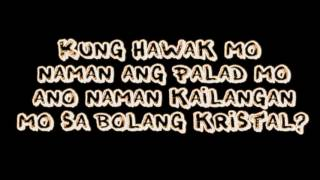 Repeat youtube video Abra ft. KZ Tandingan - Bolang Kristal LYRICS
