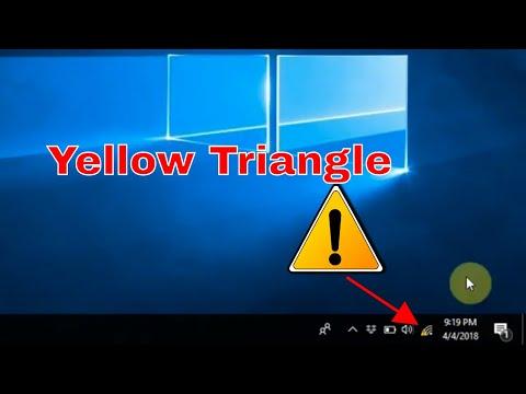 How To Fix : Yellow Triangle (Wi-Fi | Internet )