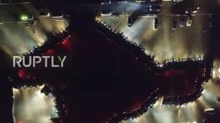 Russia  Simferopol celebrates Crimea Republic day with car flashmob
