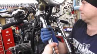 BMW Service - Replacing Steering Head Bearings Part 1 of 2