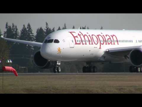 Ethiopian Airlines 787 Takeoff