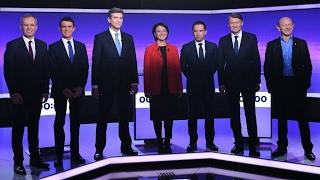 هامون وماكرون محل انتقادات مرشحي اليسار الفرنسي في المناظرة الثالثة