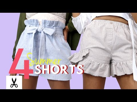4 DIY Super Cute Summer Shorts Thrift Flip | BlueprintDIY