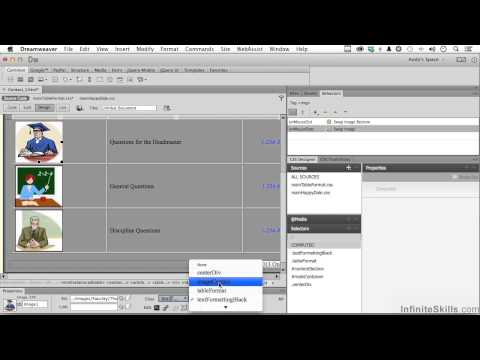 Adobe Dreamweaver CC Tutorial | Adding Images To Table Cells